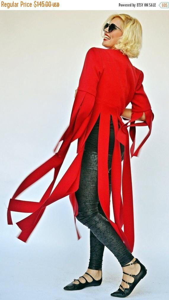 SALE Extravagant Red Jacket Funky Red Fringe Jacket https://www.etsy.com/listing/481488731/sale-extravagant-red-jacket-funky-red?utm_campaign=crowdfire&utm_content=crowdfire&utm_medium=social&utm_source=pinterest
