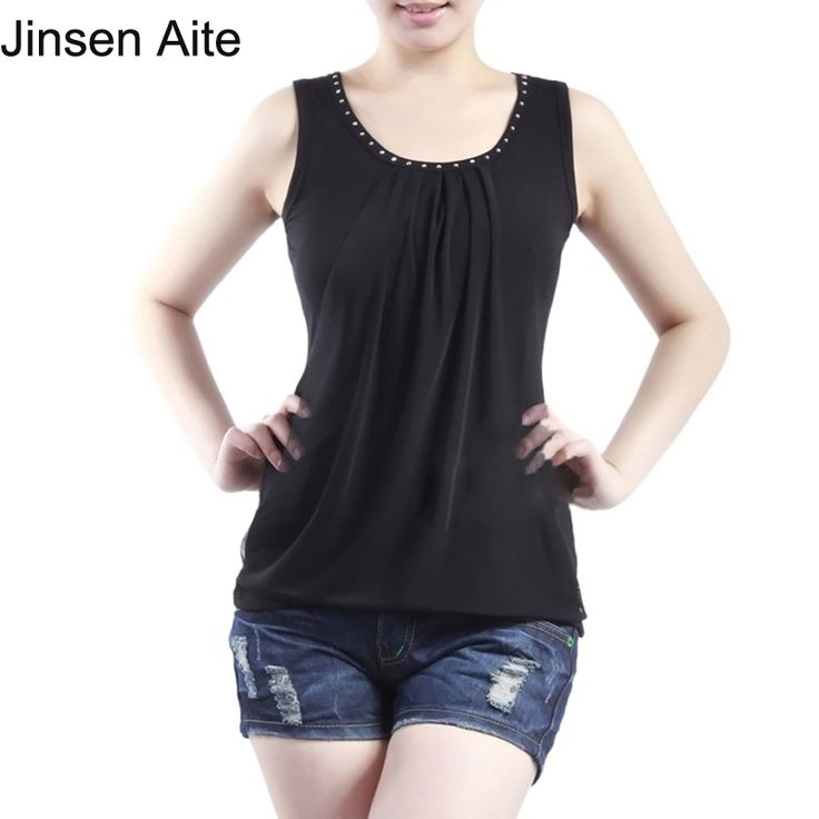Plus Size L-5XL Women Sexy Tank Tops Sleeveless T-shirt Vest Summer Fashion Diamond Solid Casual Large Size Camisole Top 3109 #Affiliate