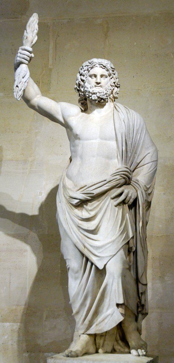 Zeus: God van de donder. Zeus is de koning van de goden. Hij is ook de heerser op de berg Olympus, en de god van de hemel en onweer. Hij is de jongste zoon van de titanen Cronus en Rhea, en is getrouwd met Hera. De symbolen van Zeus zijn: de bliksemschicht, de adelaar, de stier en de eik.