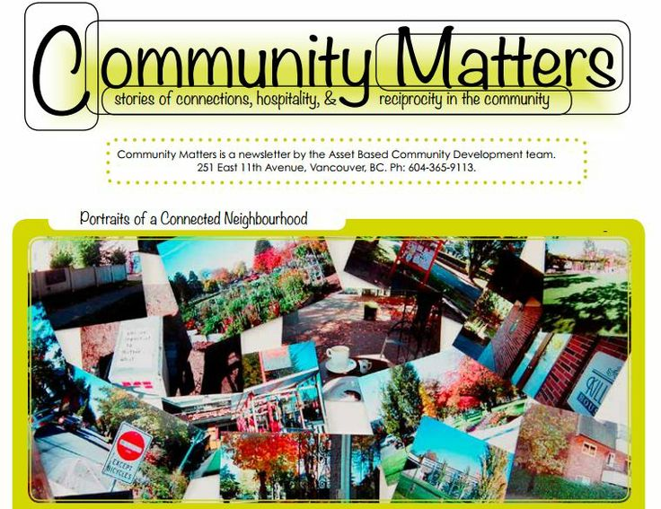 Community Matters, December 2013. A newsletter by the Asset Based Community Development team. Read here: http://ow.ly/rIkTW.