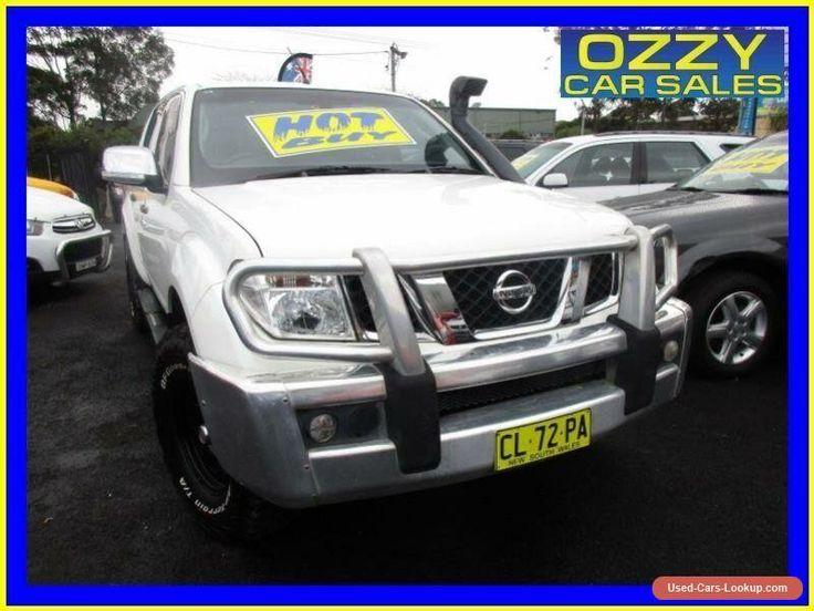 2008 Nissan Navara D40 ST-X (4x4) White Manual 6sp M Dual Cab Pick-up #nissan #navara #forsale #australia