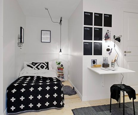 Zwart en wit #tienerkamer | Black and white #teen room (scheduled via http://www.tailwindapp.com?utm_source=pinterest&utm_medium=twpin&utm_content=post168056957&utm_campaign=scheduler_attribution)