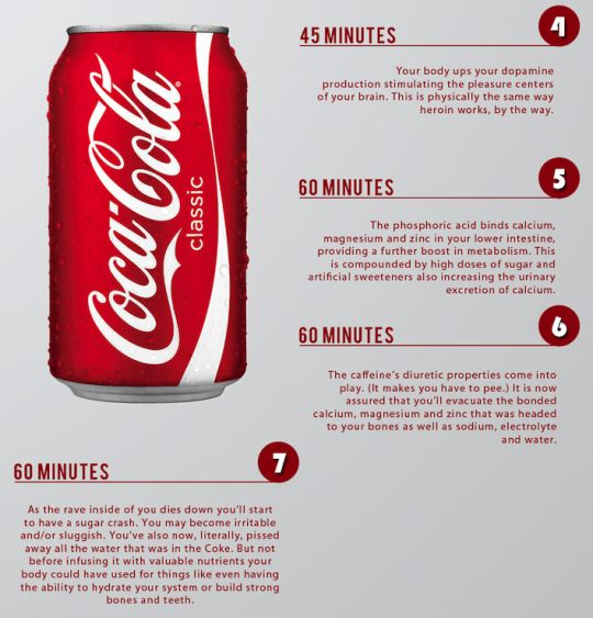 HealthFreedoms – What One Can Of Coke Does To Your Body In Less Than One Hour