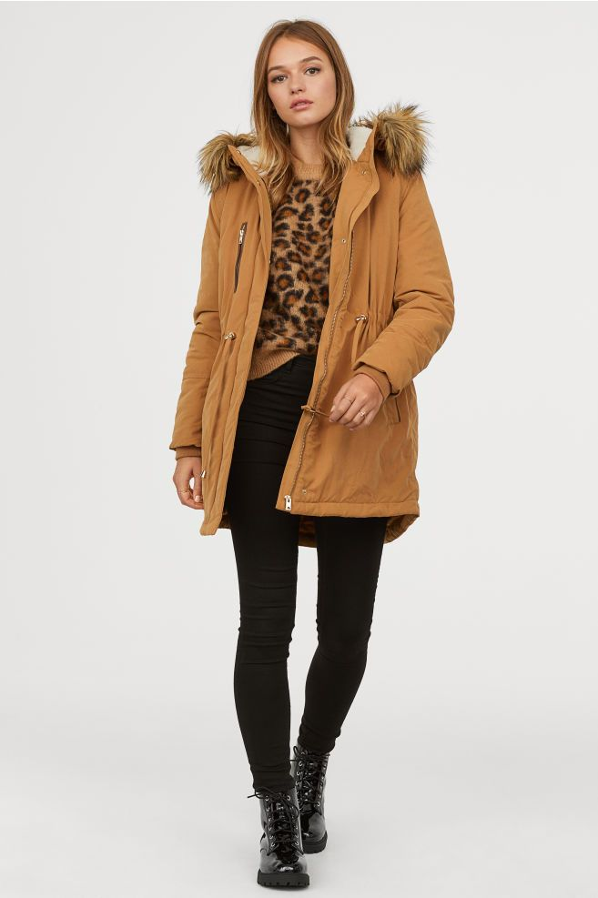 Womens Brown Parka Coats
