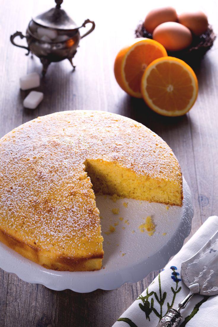 Torta all'arancia: un dolce soffice e semplice, preparato con la scorza e il succo dell'arancia!  [Orange cake]