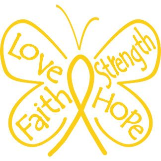 Childhood Cancer Butterfly Inspiring Words