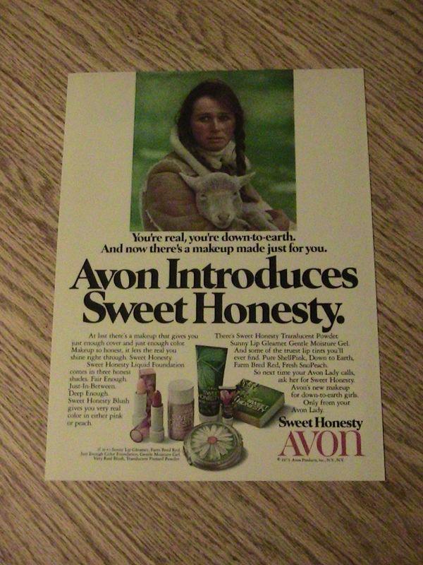 1973 AVON ADVERTISEMENT SWEET HONEST: Avon Vintage, Avon Representative, Advertising Sweet, Favorite Perfume, 1973 Avon, Honesty Perfume, Avon Sweet Honesty, Avon Advertising, Adverti Sweet