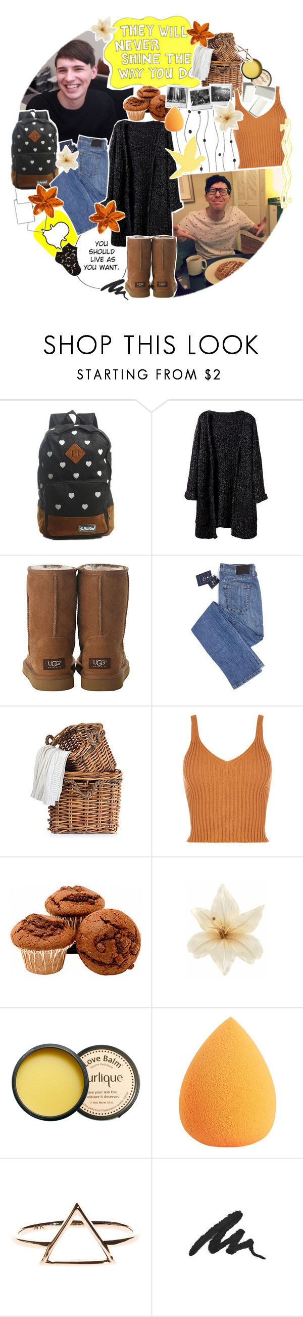 """♡ botys » how amazing it is to find someone who wants to hear about all the things that go on in your head"" by tightrope-of-weird ❤ liked on Polyvore featuring UGG Australia, Sharpie, Aerie, Clips, Jurlique, Urban Decay and Forever 21"