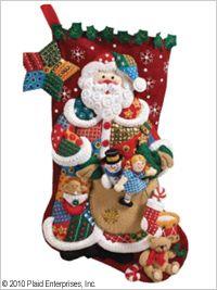 Bucilla ® Seasonal - Felt - Stocking Kits - Patchwork Santa