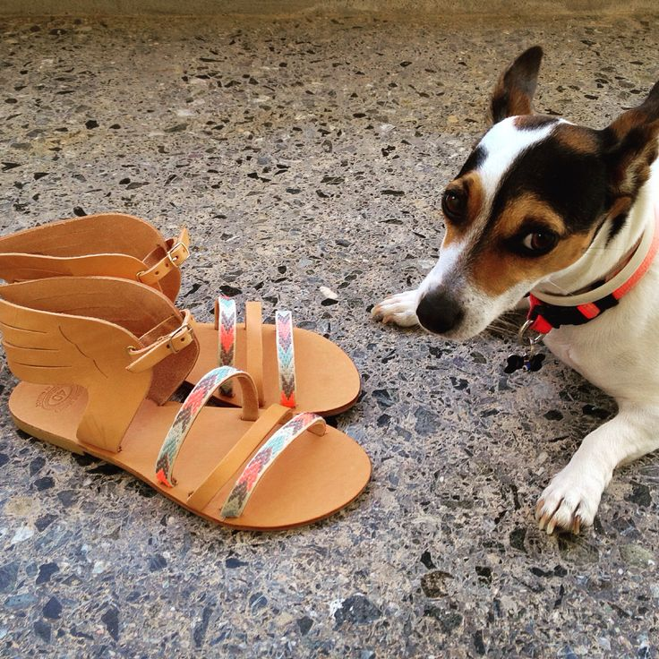 Handmade leather sandals. Hermes sandals. Feel the love by Rena Xenou