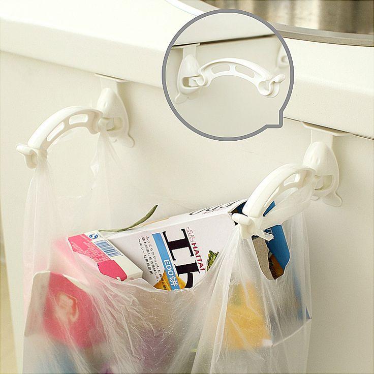 2 шт.! Новый кухонный шкаф сумок крючки мусор полипропилен вешалка дверца шкафа висячие стойку держатель для хранения сумку купить на AliExpress