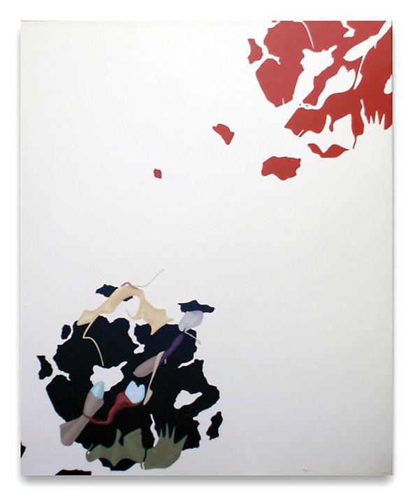 Orizzonte degli eventi, acrilici su tela, cm 120x100, 1989