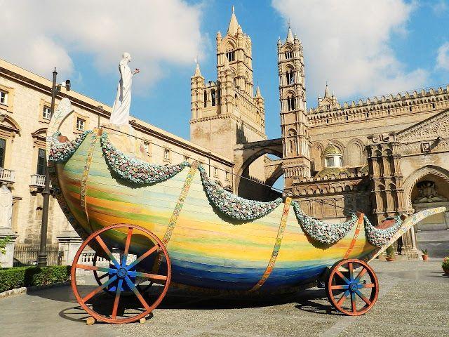 Palermo : Festino 2012: Il carro di Santa Rosalia