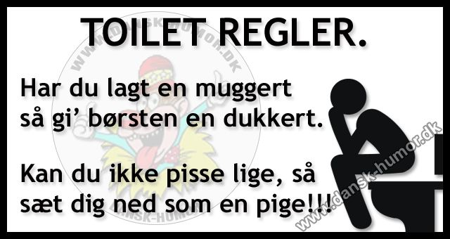 Toilet regler.