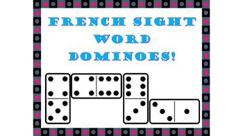 This is a great activity for first time French learners to start to recognize two letter French words!Included:Domino cards (le, la, lu, de, du, se, sa, si, te, ta, tu, me, ma, vu, ne, je)How to play:Each student takes a turn putting a card on the table.