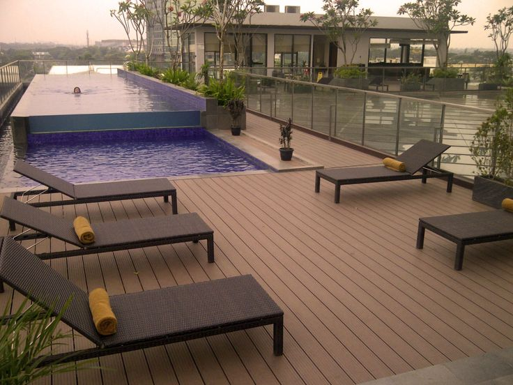 cheap above ground pool decks composite wood