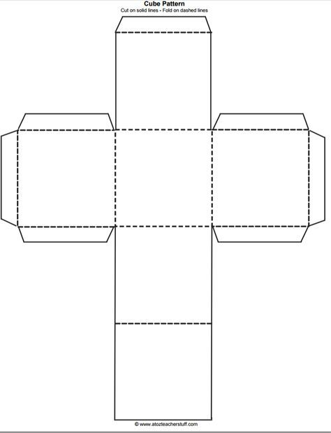 Cube Outline Free Printable