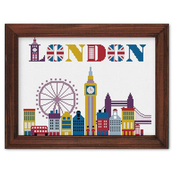 Hey, I found this really awesome Etsy listing at https://www.etsy.com/listing/244194911/london-cross-stitch-pattern-modern-cross