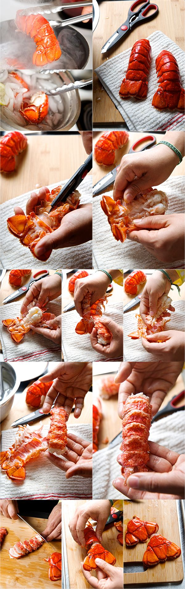 How to cook and  shell-out Lobster tail…and a  Lobster Mac & Cheese recipe...~ Yes, more please!