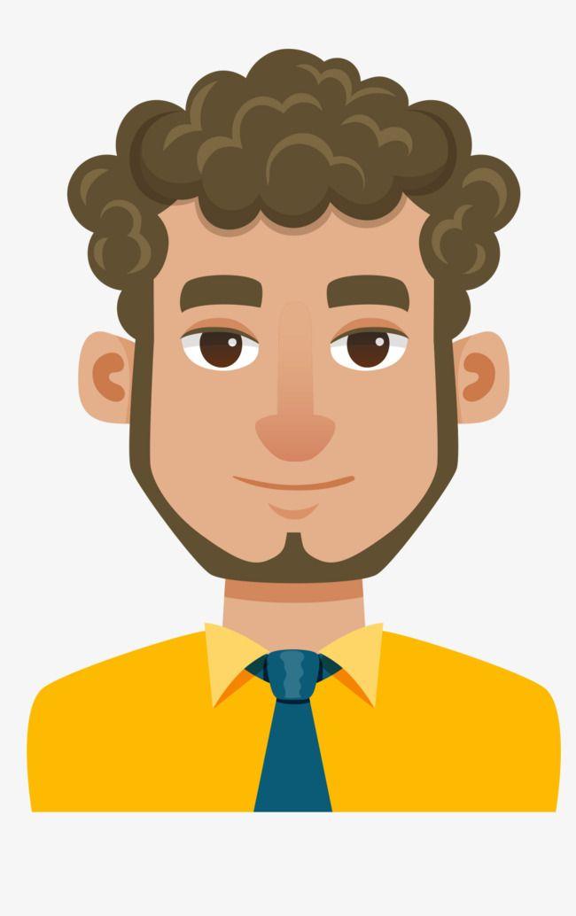 Curly Cartoon Man Material Diagram Cartoon Man Curly Hair