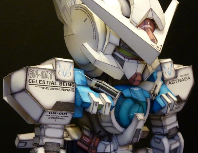 Rescaled SD GNY-001 Gundam Astraea with Weapons Free Paper Model Download