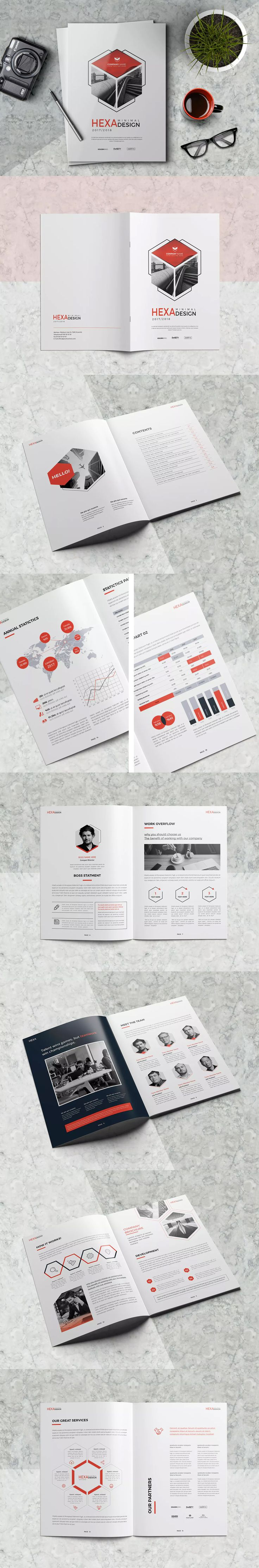 Minimal Business Brochure Template InDesign INDD