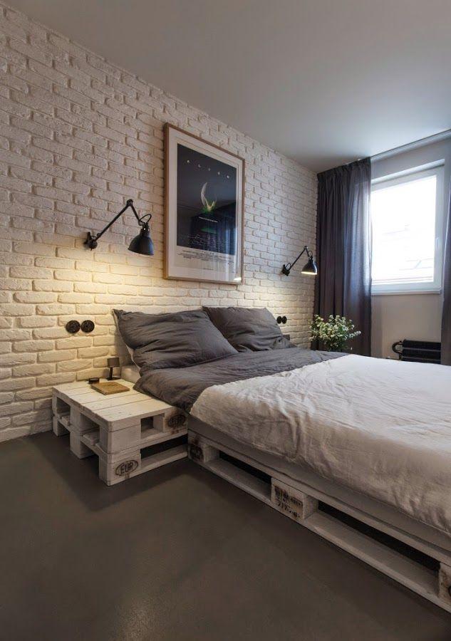 Muebles hechos con palets en un apartamento con toque masculino   Decoración