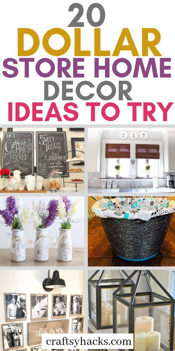 20 Dollar Store Home Decor Projects With Images Dollar Store