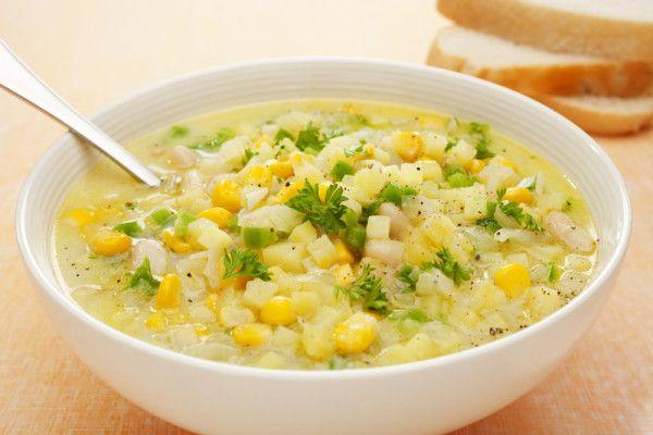 Corn chowder via MyFamily.kiwi