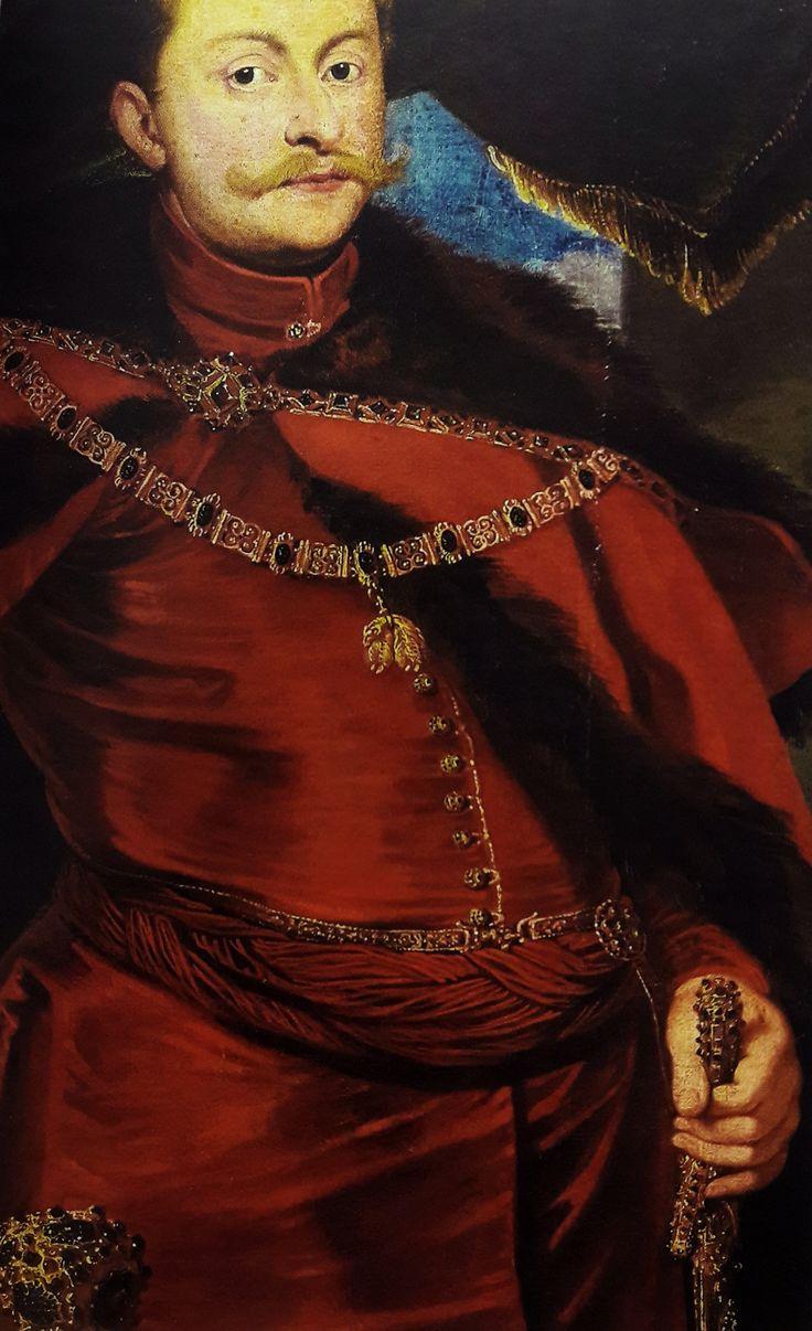 Detail of portrait of Crown Prince Ladislaus Sigismund Vasa in Polish costume by Pieter Claesz. Soutman, ca.1626 (PD-art/old), Muzeum Pałacu Króla Jana III w Wilanowie