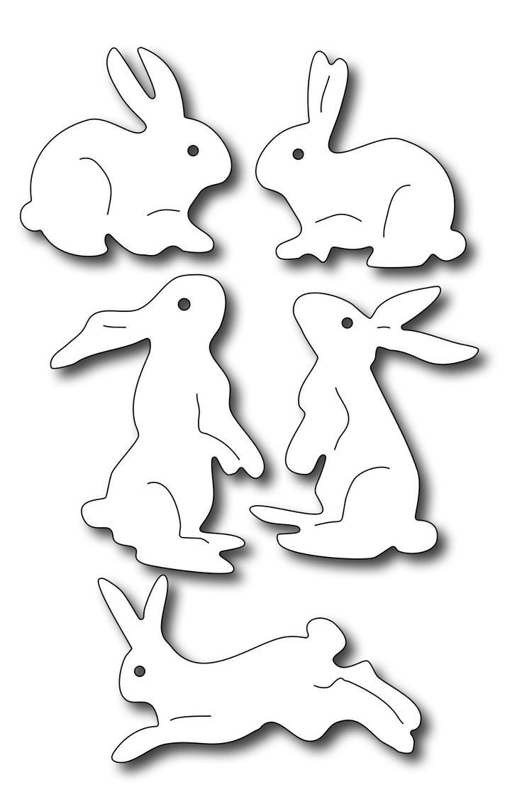 Frantic Stamper Precision Die - Assorted Bunnies