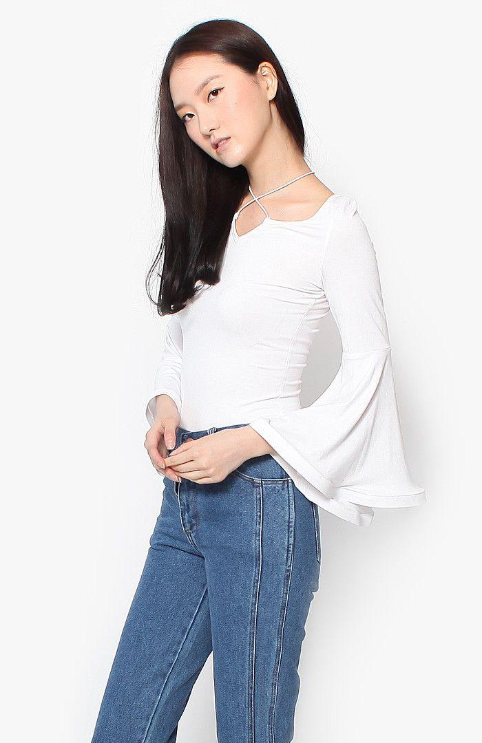 Nadine Bell Top - White