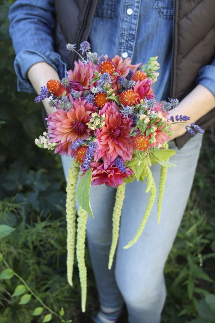 Bohemian Wedding Bouquet Sonic Bloom Dahlias Emerald