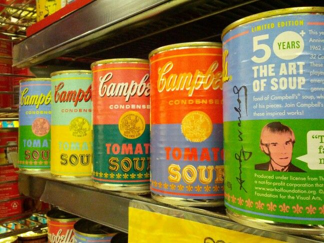 Art on your soup. Warhol @ Safeway