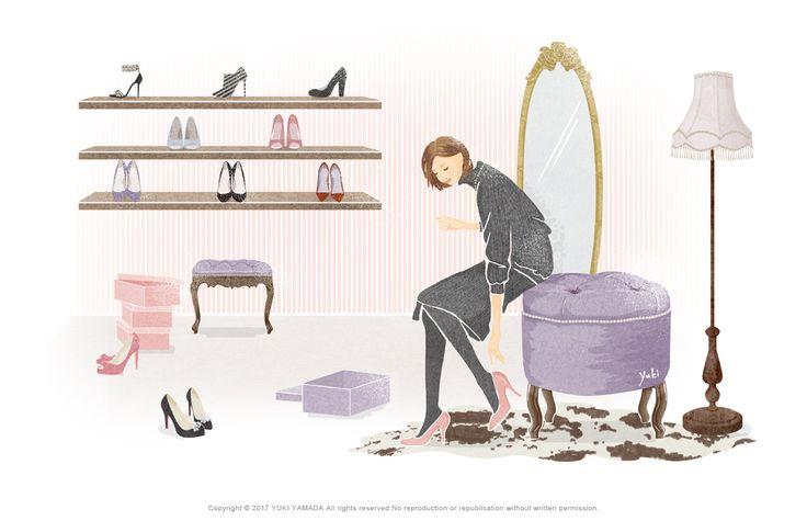 Choose shoes イラスト