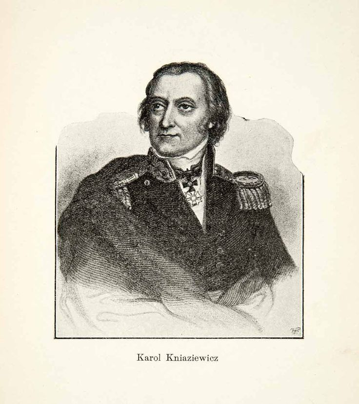 1906 Print Art Gen Karol Kniaziewicz Portrait Polish-Russian Napoleonic XEL8
