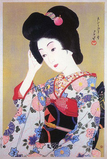 hanga gallery . . . torii gallery: Yuku Haru (Late Spring) by Kawase Hasui