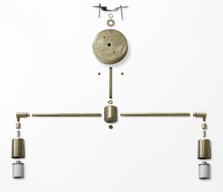 DIY Light Fixture : Double Brass Flush Mount