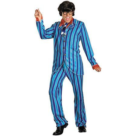 Austin Powers Carnaby Adult Halloween Costume, Men's, Size: XL, Multicolor