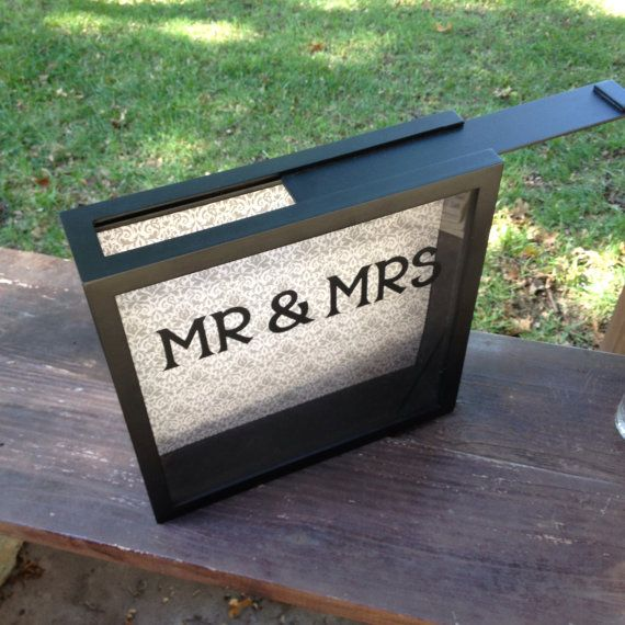 WEDDING CARDS Box 12x12 Shadow Box THEN by CelebratingTheMoment