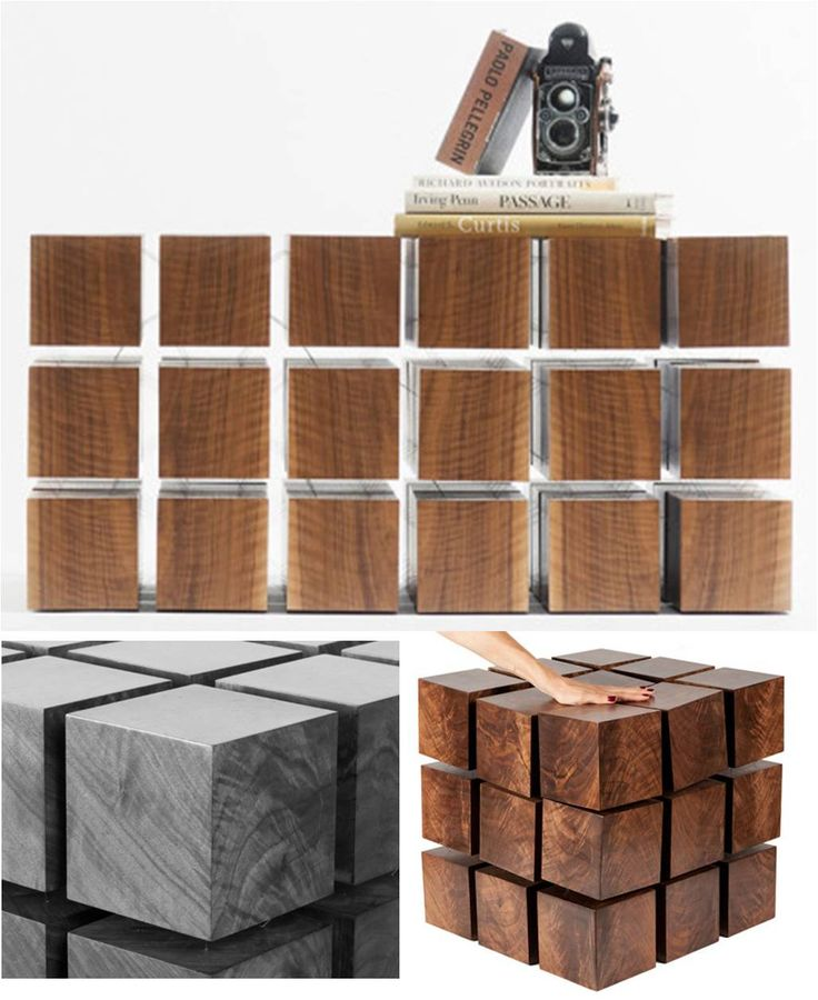 Beautiful Floating Table By New York Based RockPaperRobot : Looks Like Solid Blocks  Of Wood. A Photo Gallery