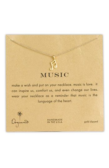 Dogeared Reminder - Musical Note Pendant Necklace