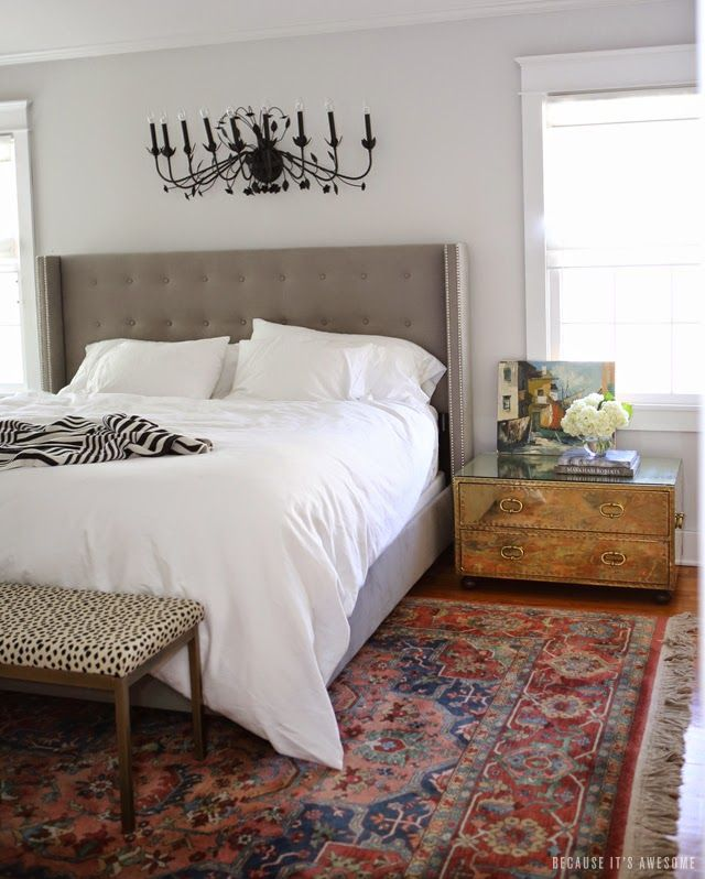 Bed - Because It's Awesome: One Room Challenge // Master Bedroom Final Reveal