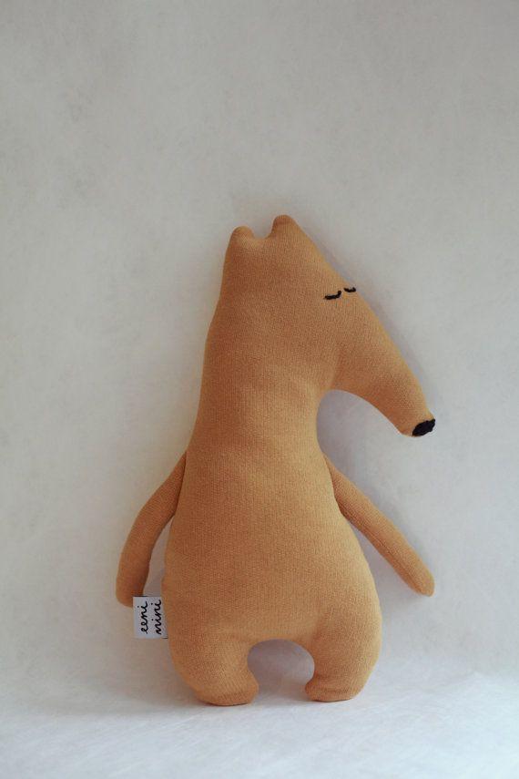 Little Anteater Tolly, handmade organic minimalist soft toy