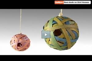 Backyard Jungle (Cub Scout Tiger Adventure) - How to Make a Ball Birdhouse - Build your own Ball Birdhouse with this very simple idea. It's just a perfect project for your kids and look great in any garden.