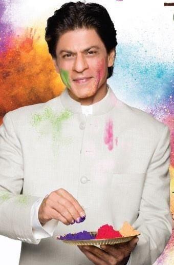 Shah Rukh Khan - Holi 2015 Mahagun photoshoot