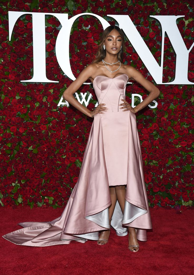 Fresh face!  Jourdan Dunn in her Zac Posen gown at the Tony's red carpet got us swooning
