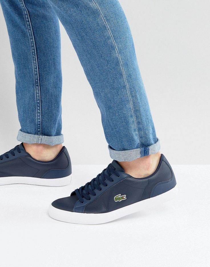 Get this Lacoste's sneakers now! Click for more details. Worldwide shipping. Lacoste Lerond Trainers in Navy - Navy: Trainers by Lacoste, Leather upper, Lace-up fastening, Padded for comfort, Lacoste logo, Chunky sole, Moulded tread, Treat with a leather protector, 50% Other Materials, 50% Real Leather Upper. Famed for their iconic crocodile emblem, Lacoste was founded by tennis superstar Ren� Lacoste in 1933 and was first to introduce the pique polo shirt. Utilising their sporting…