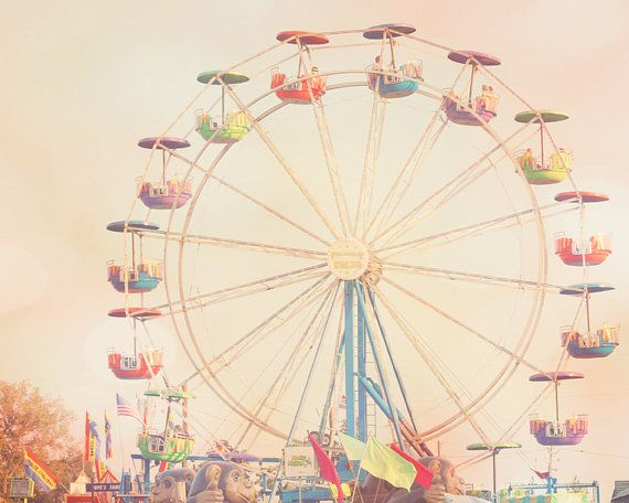 ferris wheel art purple nursery wall art for kids carnival photography Ferris wheel picture carnival decor fine art print on Etsy, $21.00