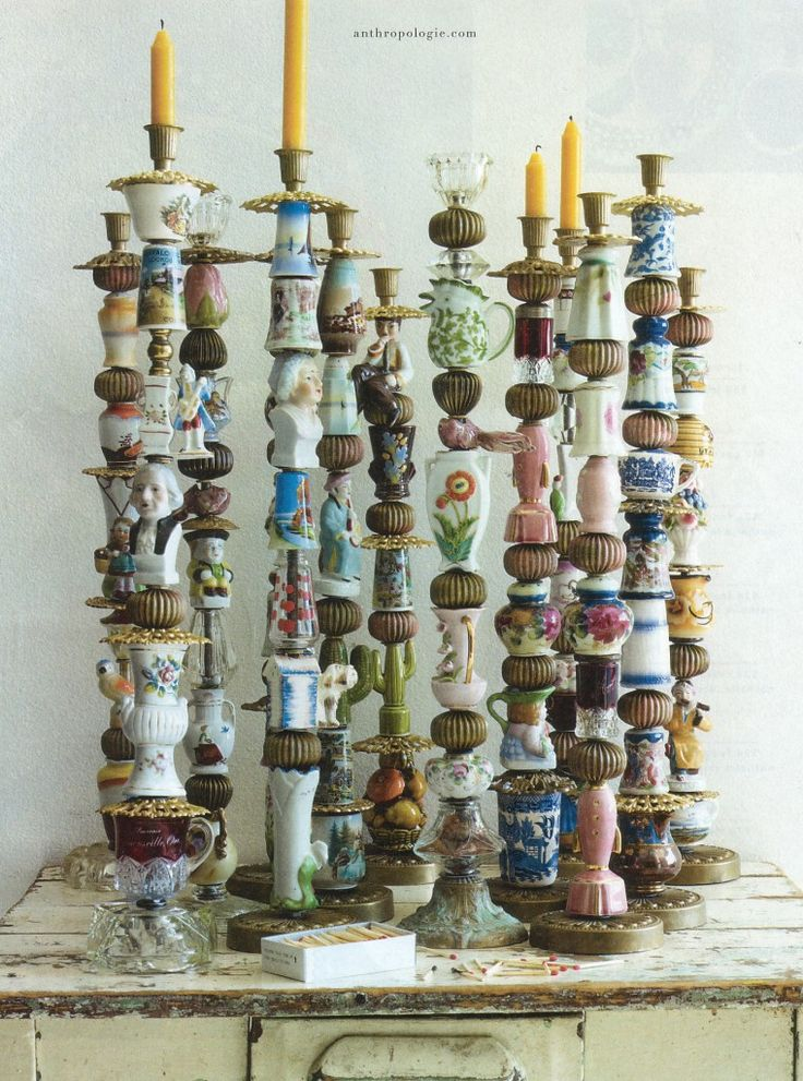 what to do with all your knick knacks ~ inspiration via Anthropologie. They are selling these for 399 dollars